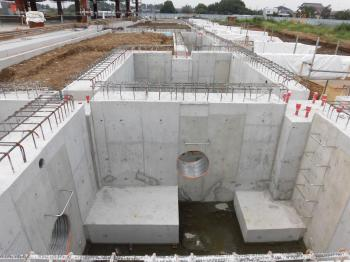 04プラザ棟基礎施工状況H29-8