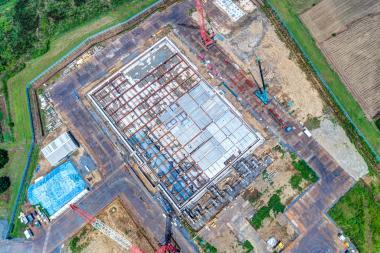 01建設現場全景(上空から撮影)